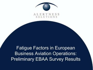 Preliminary EBAA Survey Results (369 KB, PDF) - eBace