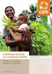 Livelihood security - CARE Climate Change