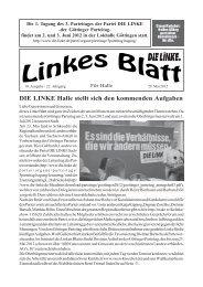 Ausgabe Nr. 10 vom 29. Mai 2012 - DIE LINKE. Halle /Saale