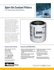Spin-On Coolant Filters - Bolland Machine