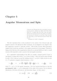 Chapter 5 Angular Momentum and Spin - Particle Physics Group
