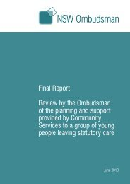 Final Report Review by the Ombudsman of the planning and ...
