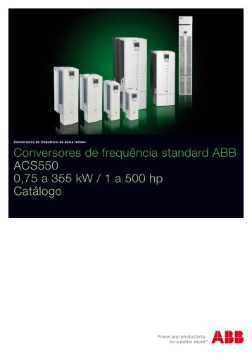 Conversores de frequência standard ABB ACS550 0,75 a 355 kW ...