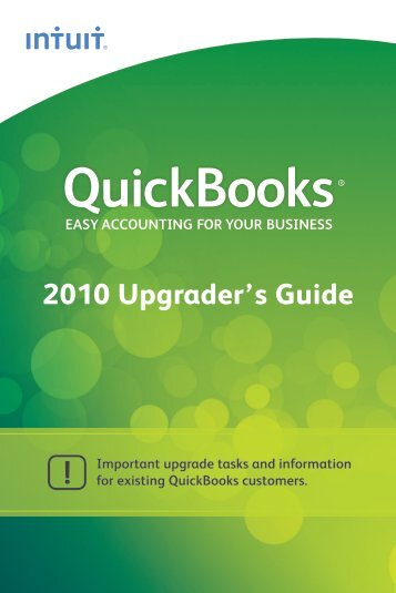 QuickBooks 2010 Upgraders Guide - International - Intuit