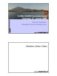 CLIMA SUISSE Zentralschweiz Dienstag, 27. Januar 2009 - Energie ...