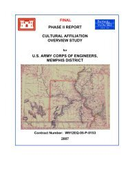 final phase ii report cultural affiliation overview study us army corps ...
