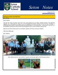 Seton Notes - Seton Catholic School