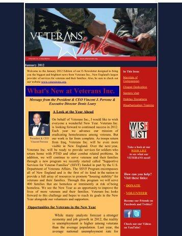 January 2012 - Veterans Inc