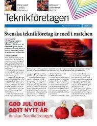 Svenska teknikföretag är med i matchen GOd JUL ... - Teknikföretagen