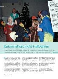 Reformation, nicht Halloween - Ethos