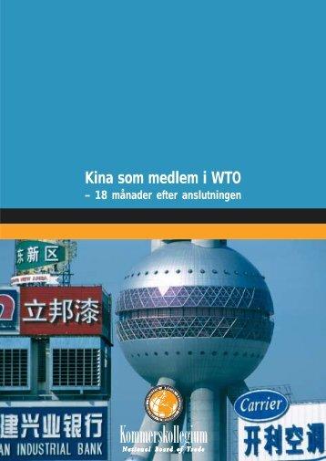Kina som medlem i WTO - Kommerskollegium