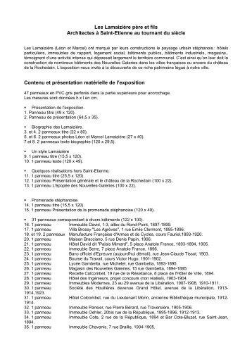 Les Lamaizière père et fils - Archives municipales de Saint-Etienne