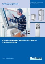 Plynové kondenzačné kotly Logamax plus GB152 a ... - Buderus