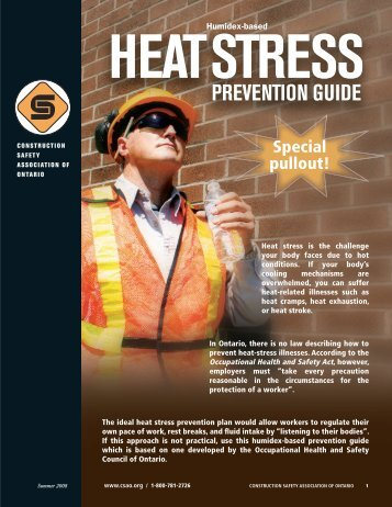 heat stress prevention guide - Infrastructure Health & Safety ...