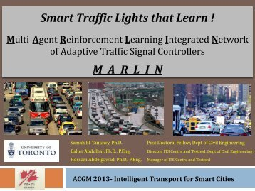 Multi-Agent Reinforcement Learning Integrated ... - (ITS) Canada