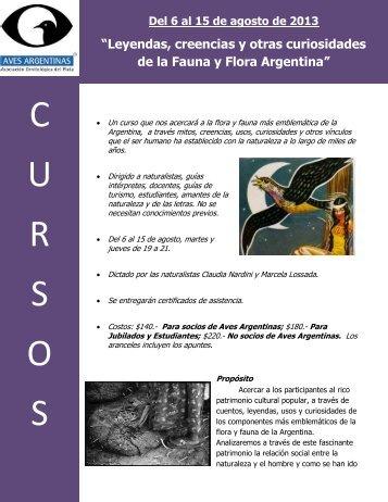 C U R S O S - Aves Argentinas