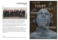 Programmheft - cantamus-berlin