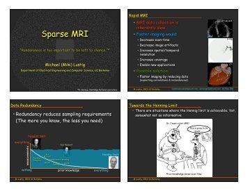 Sparse MRI - Brainmapping.ORG