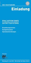 eVaLuatIOn eIneS ZutRIttSSYSteMS - sicherheit-online Homepage