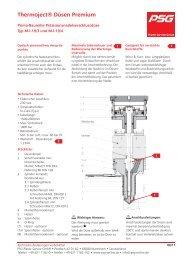 Prima-Baureihe M-l-19/3 und 19/4 - PSG Plastic Service GmbH