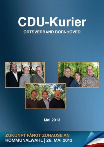 CDU Kurier Mai 2013 - CDU Bornhöved