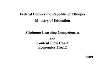 Federal Democratic Republic of Ethiopia Ministry of Education ...