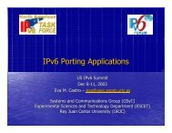 IPv6 Porting Applications - IPv6 Summit, Inc.