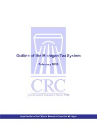 Outline of the Michigan Tax System - Citizens Research Council of ...