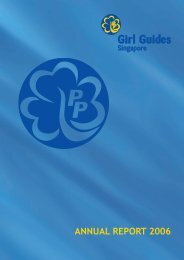 ANNUAL REPORT 2006 - Girl Guides Singapore