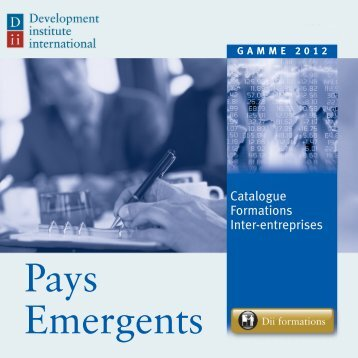 formation pays emergents - Development institute international