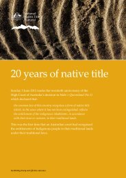 20 years of native title - National Native Title Tribunal