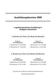 Ausbildungstermine 2009 - Institut für Logotherapie