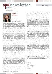 VPU-Newsletter 1. Quartal 2013