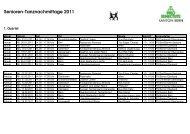Programm Tanznachmittage 2011 - Pro Senectute Kanton Bern