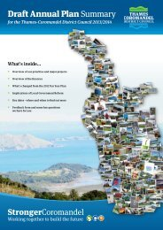 Draft Annual Plan Summary - Thames-Coromandel District Council