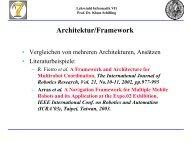 Architektur/Framework - Lehrstuhl für Informatik VII