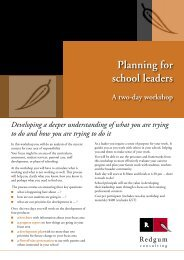 Planning for school leaders - RedGum Consulting
