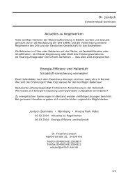 Aktuelles zu Regelwerken Energie-Effizienz und Hallenluft Dr. Jentsch