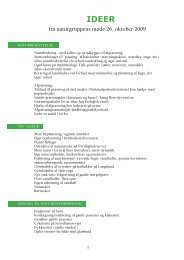 Ideer til nationalparken (naturgruppen) - Nationalpark Sydfyn