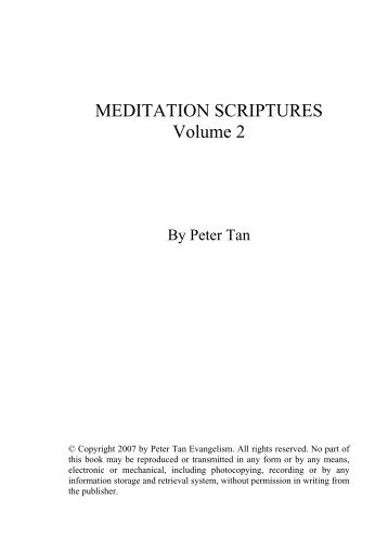 MEDITATION SCRIPTURES Volume 2