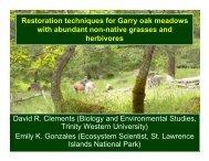 Restoration techniques for Garry oak meadows with abundant non ...