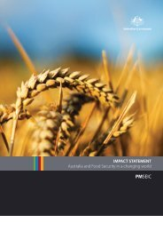 Food Security in a Changing World Impact Statement