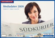 Mediadaten 2009 - Südkurier