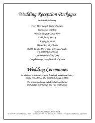 Wedding Reception Packages Wedding Ceremonies