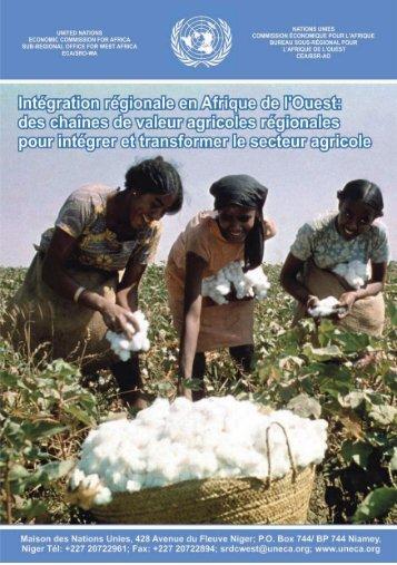 des chaînes de valeur agricoles régionales pour intégrer et