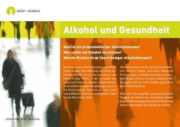 Alkohol und Gesundheit - Sucht Schweiz