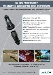 The NEW PNC IP66/IP67: THE electrical connector ... - CONTACTICA