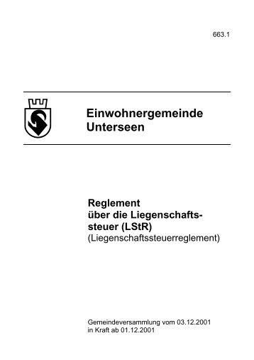 Reglement - Unterseen