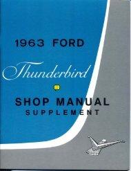 DEMO - 1963 Ford Thunderbird Shop Manual - ForelPublishing.com