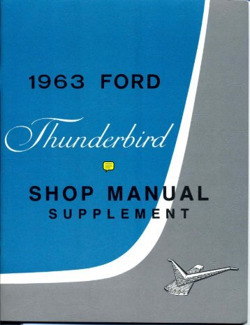 DEMO - 1963 Ford Thunderbird Shop Manual - ForelPublishing.com